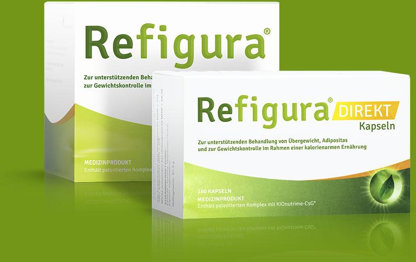 Refigura Kapseln und Refigura Sticks